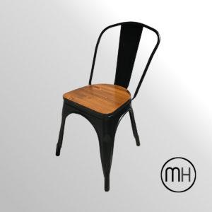 silla tolix asiento de madera